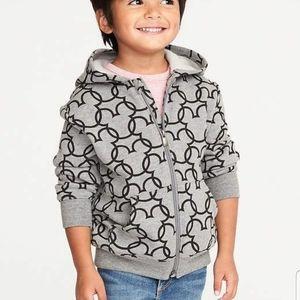 Old Navy Disney Mickey zip up hoodie sz 4T